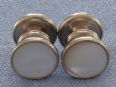 Art Deco Snap Cufflinks - White Metal and Mother of Pearl (SOLD)